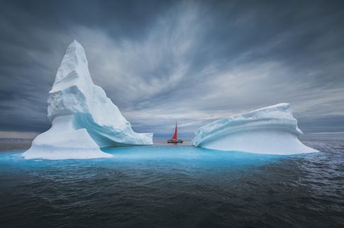 Red Sail Boat Iceberg Greenland.png