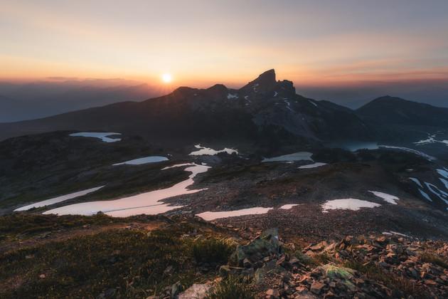 Black Tusk Sunset by Chase Teron