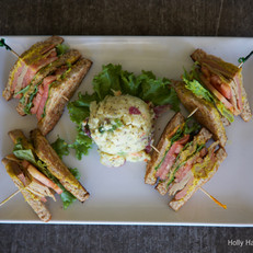 Club Sandwich with Potato Salad