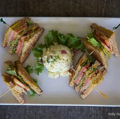 Club Sandwich with Potato Salad