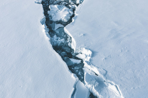 Svalbard Ice Abstract by Chase Teron Photography