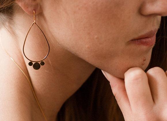 Boucles d'oreilles Oneida aperçu porté