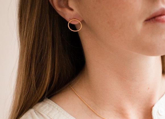 Boucles d'oreilles Meika cercle