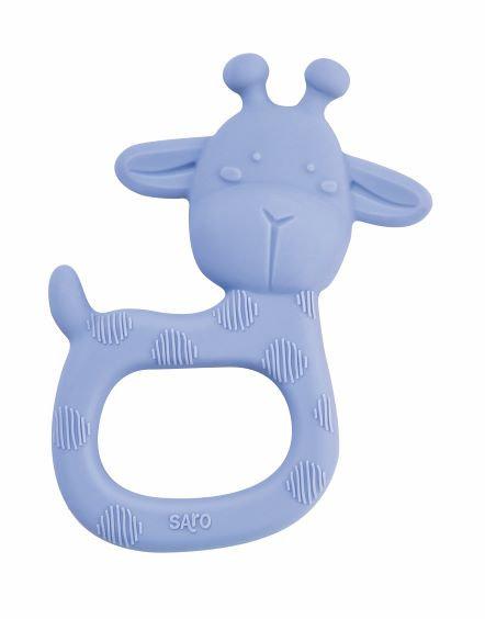 """""""Giraffe Party"""" Silicone Teether / Blau"""