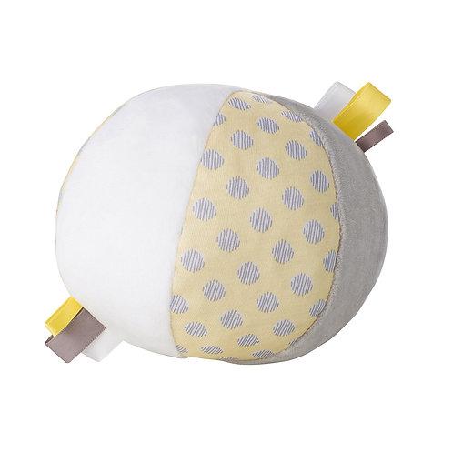 Baby Ball mit Schlittenglocke / Gelb