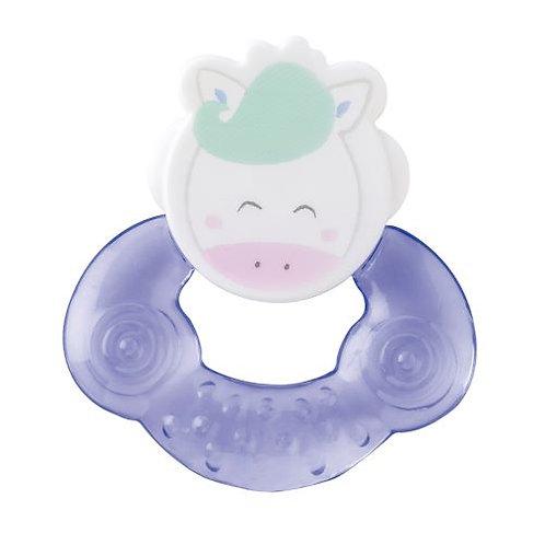 """Cool animals"" Water Teether / Blau"