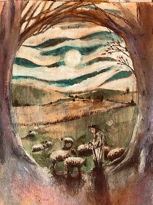 The shepherd keeps watch