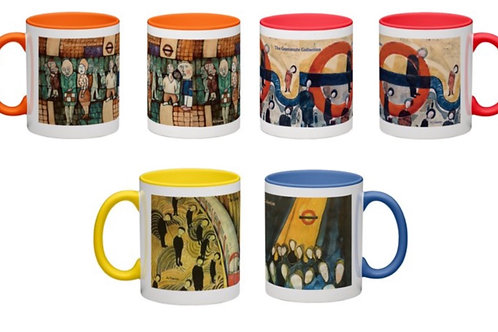 Set of 4 Mugs The Commute Collection