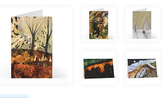 Set of 10 cards, 2 of each design
