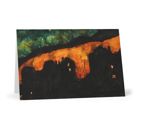 Fiery Sky Card