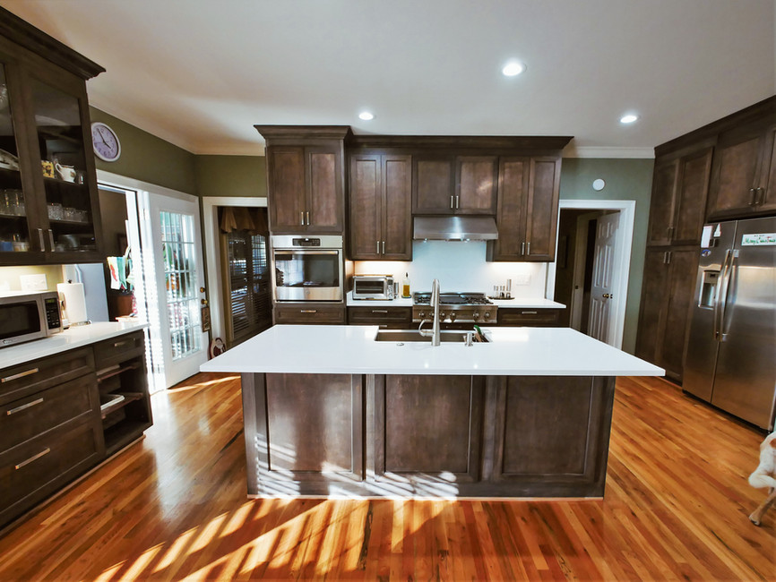 Color: Stained in Dark Walnut