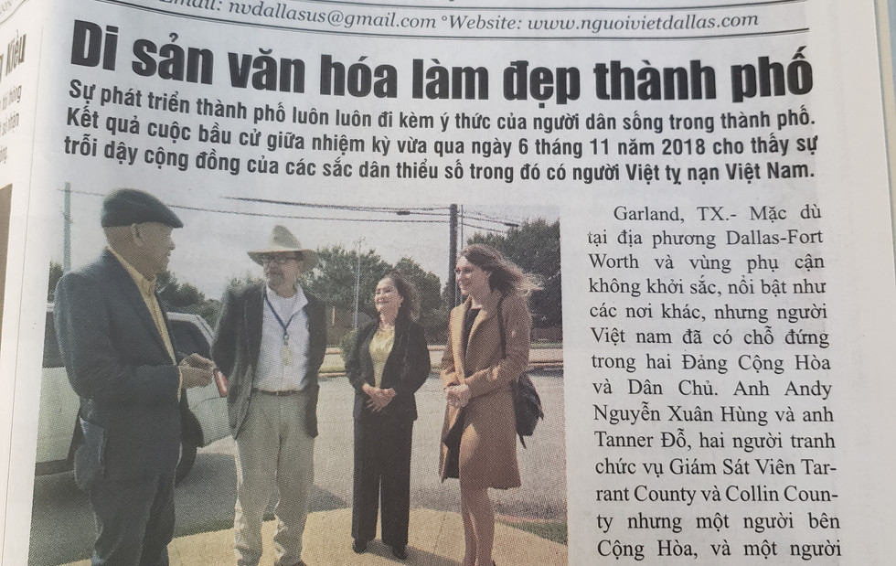 Working with leaders of the Vietnamese community on a plan to revitalize the Vietnamese Community Center