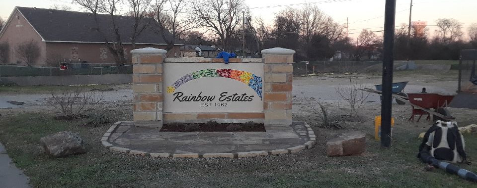 Rainbow Estates Entry Sign Project