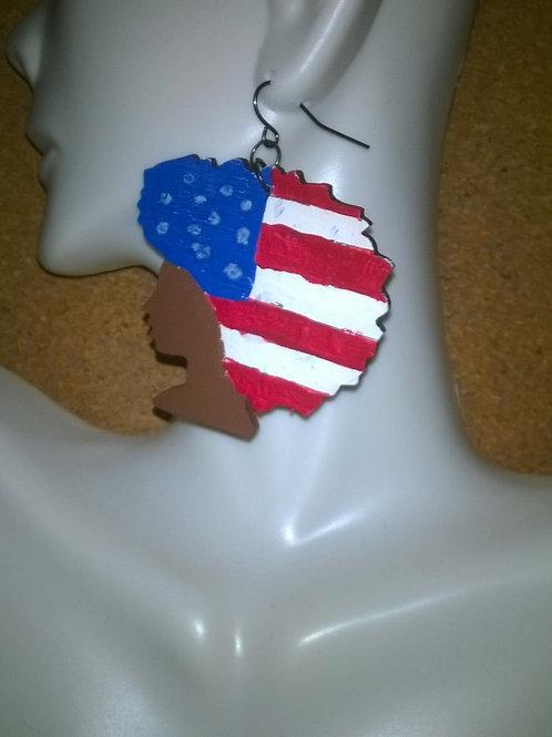 Afro American Pride Drop Earrings