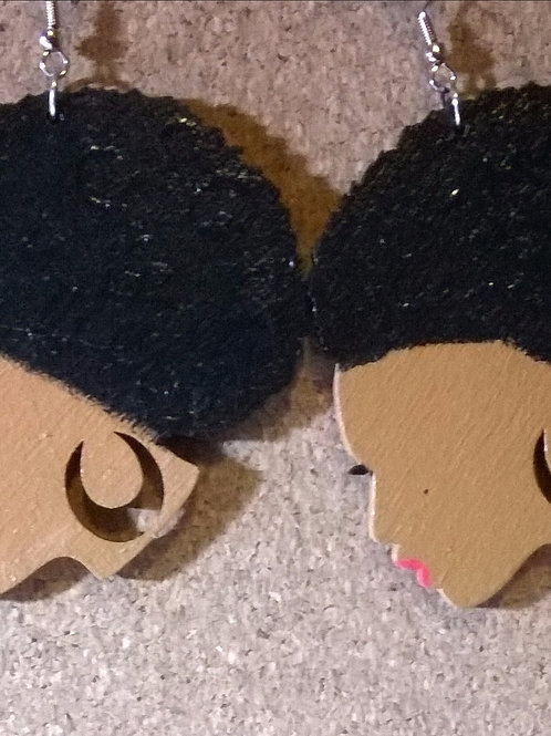 Lovely Afro Hair Drop Earrings