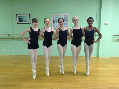 Ballerina's Posing