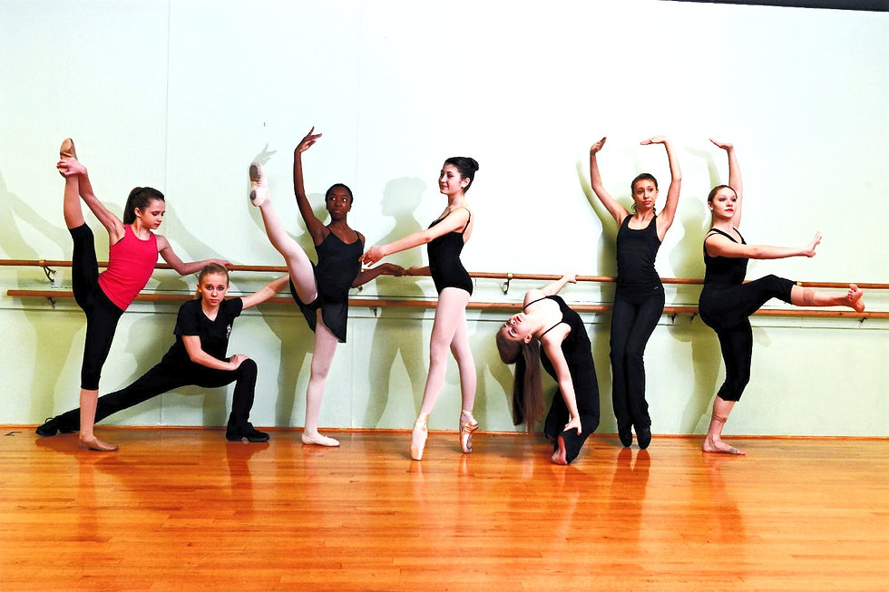 Series of dancers posing at Bellevue Performing Arts Center.