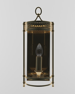 5 Guildhall Wall Light Polished Brass