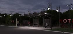VRay, рендер, ночное освещение
