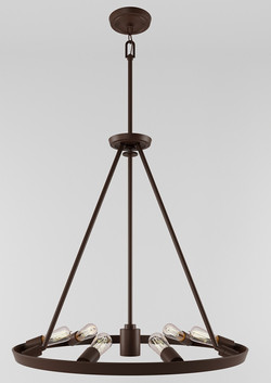 Theater Row 6Lt Chandelier-Bronze