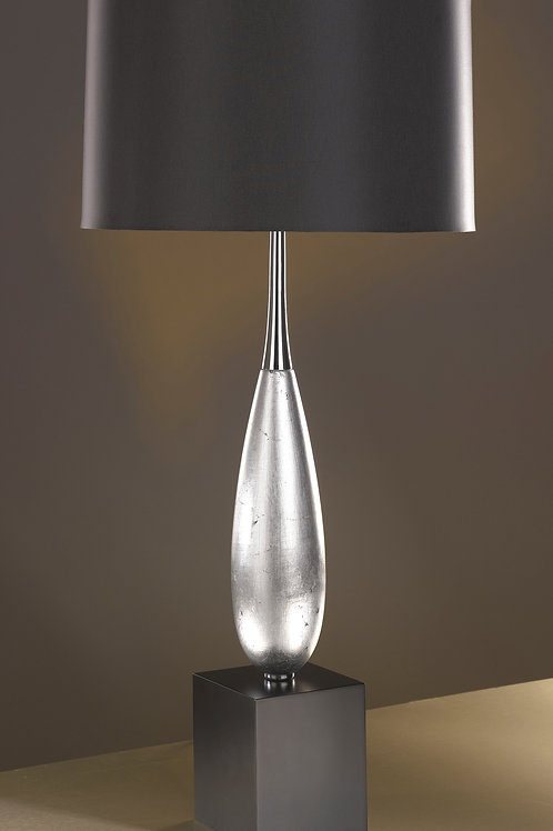 Solomon Silver Leaf Table Lamp (Luis Collection)