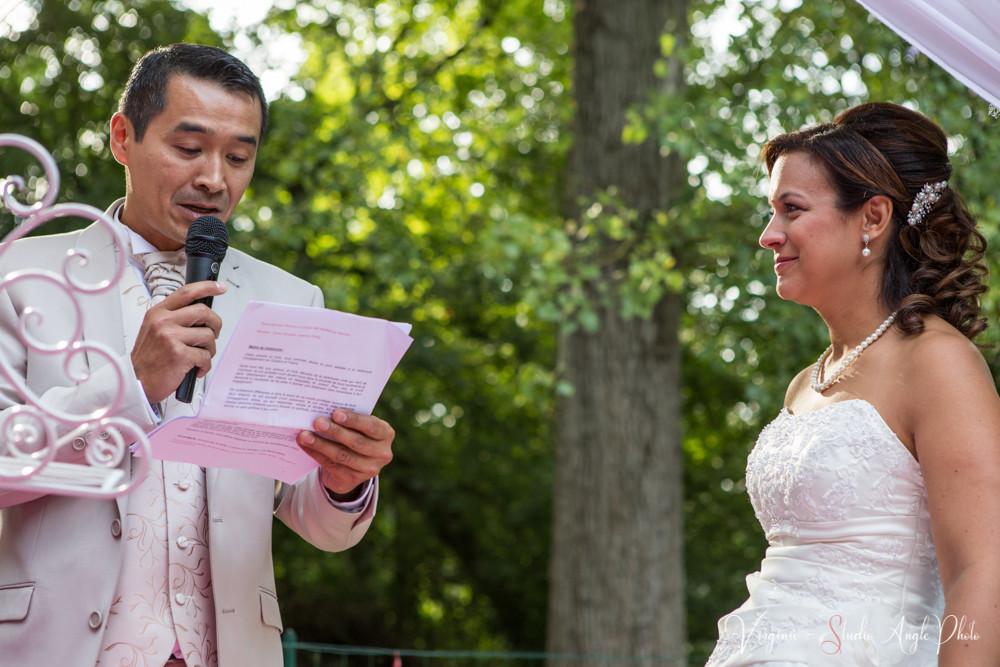 le discours du marié à sa femme