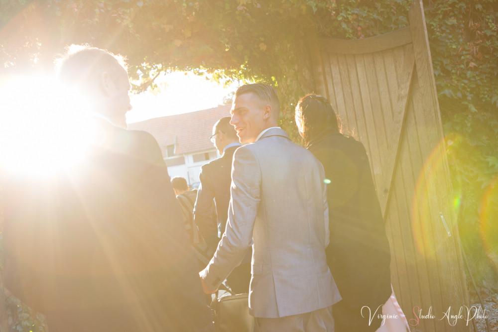 les invités au cocktail du mariage