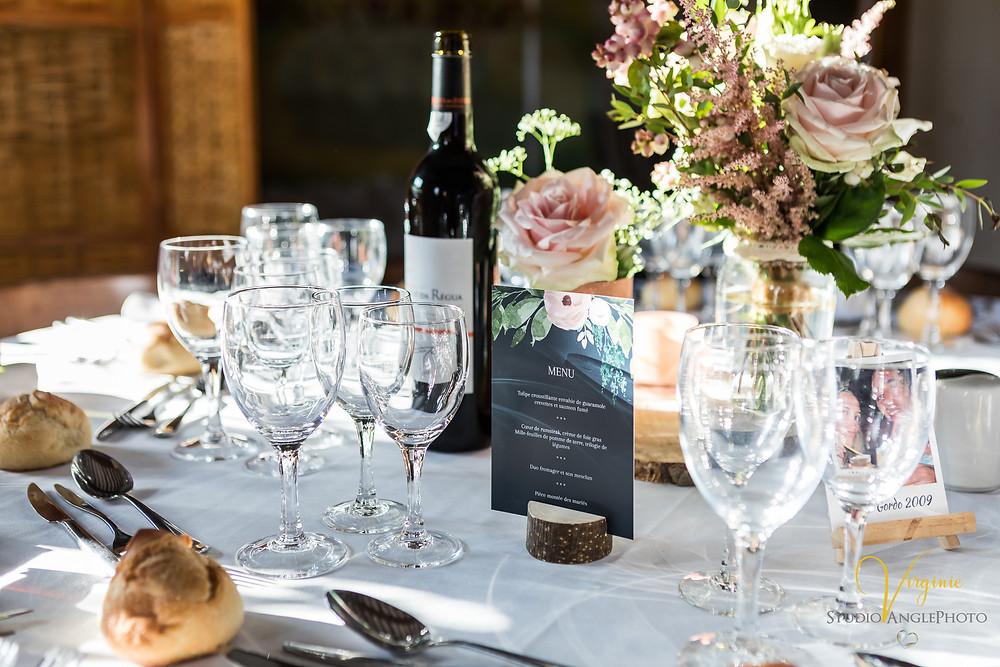 décoration de table du mariage