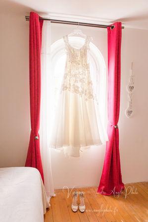 robe mariee suspendue