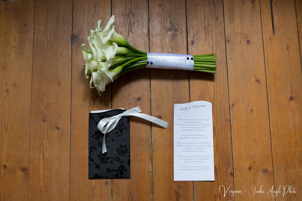 bouquet et faire part de mariage