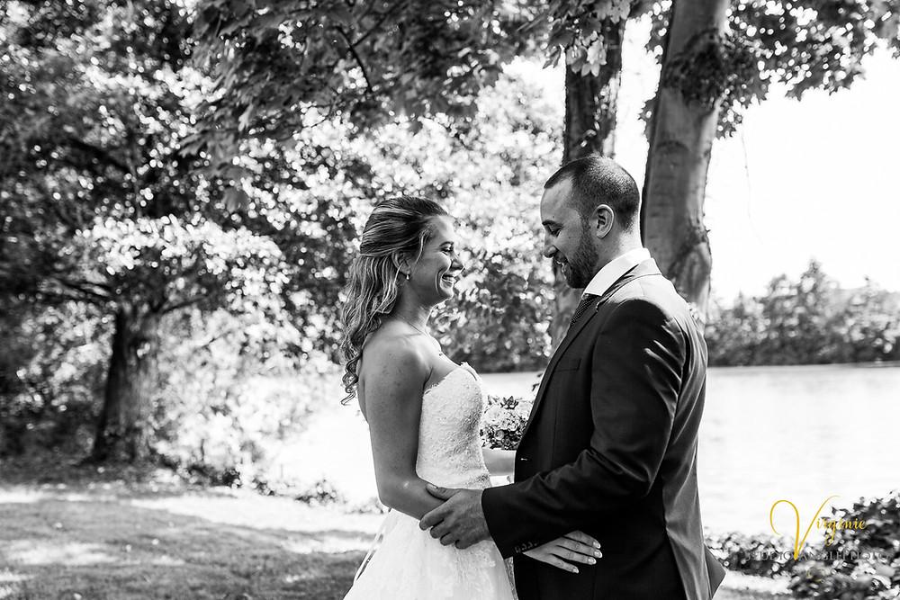 les mariés se découvrent pour la première fois