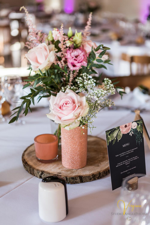 décoration de table et florale de la salle de réception