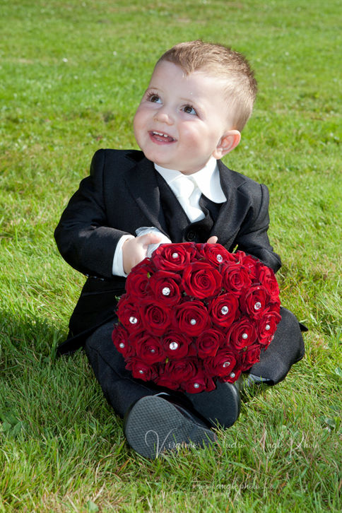 bouquet rouge mariee