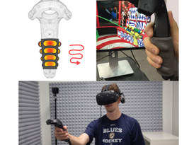 Fluidic Elastomer Actuators for Haptic Interactions in Virtual Reality