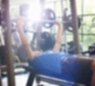 체육관에서 무게