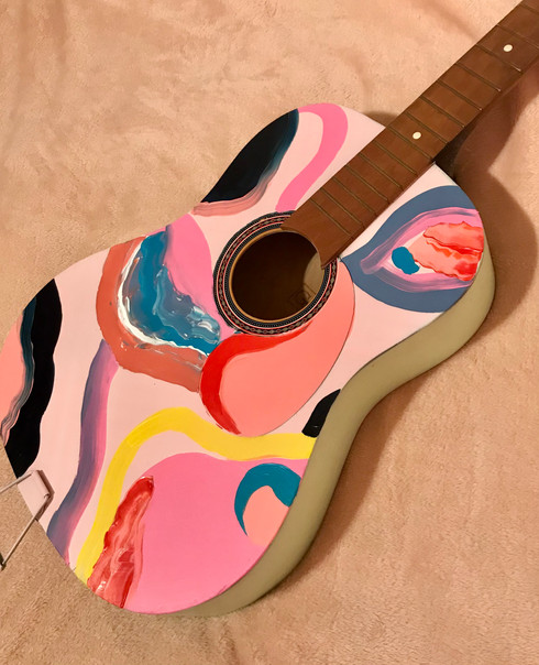 Hand-painted Guitar
