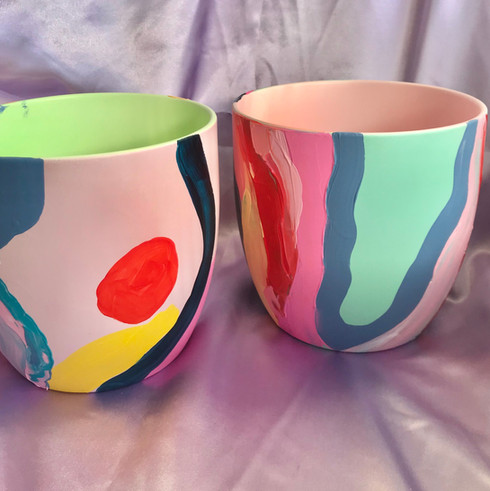 Hand-painted Pots