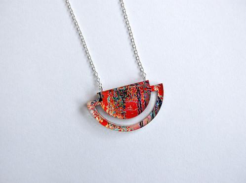 Acrylic geometric necklace aloadofball Gallery