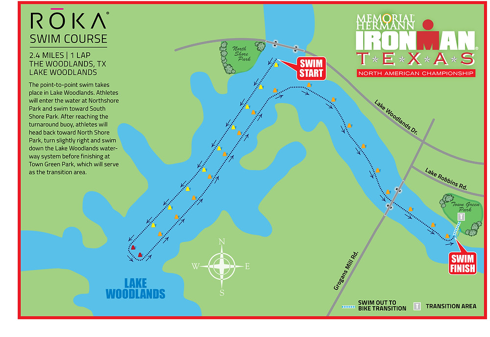 Ironman 2017 The Woodlands Proposed Swim Course