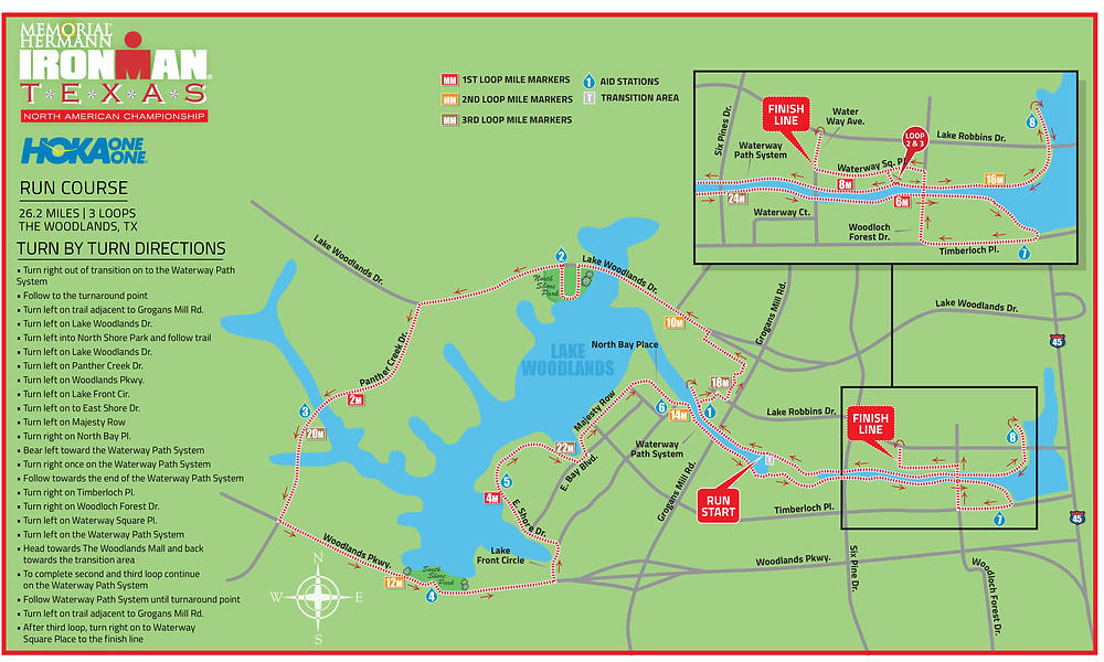 Ironman 2017 The Woodlands Proposed Run Course