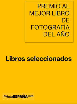 Best Photography Book Award PHotoEspaña 2020