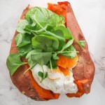 egg avocado stuffed sweet potato