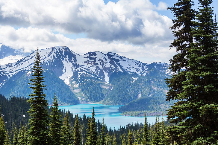 Mountain Range Near Water
