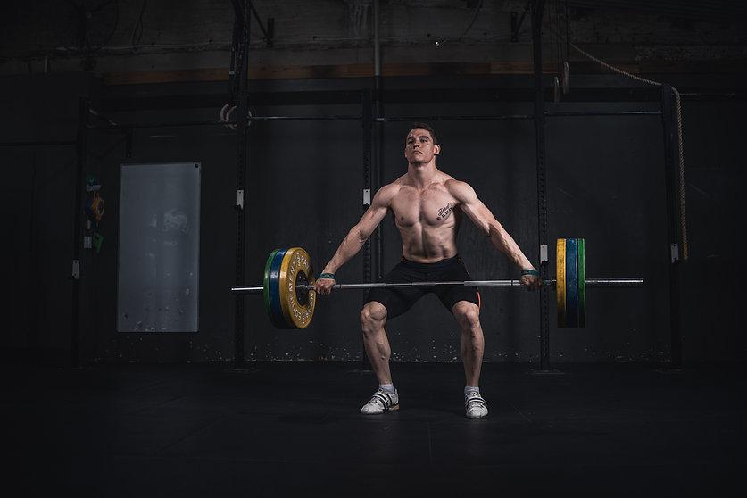 Athlete Squatting
