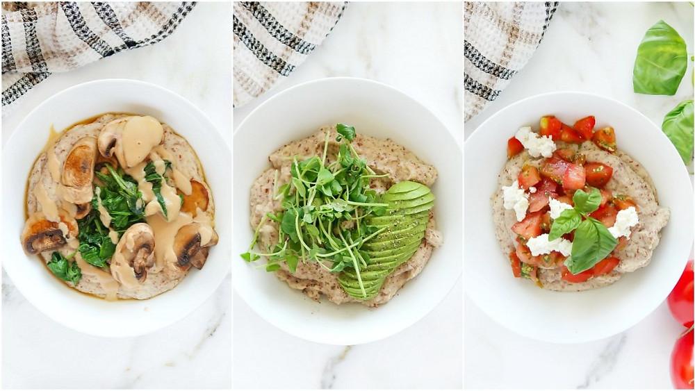 savoury paleo oatmeal bowl s