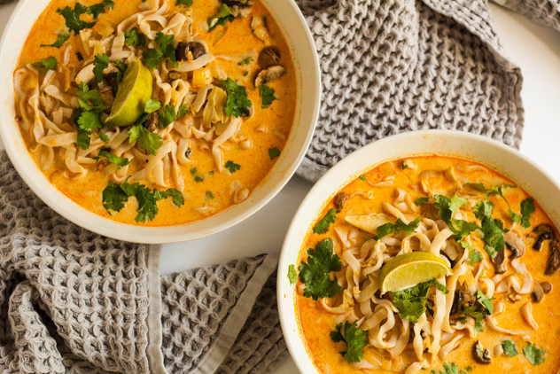 Curry Soup in Bowls