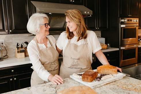 Mother/Daughter Baking Duo, Mrs. Bright and Charisse