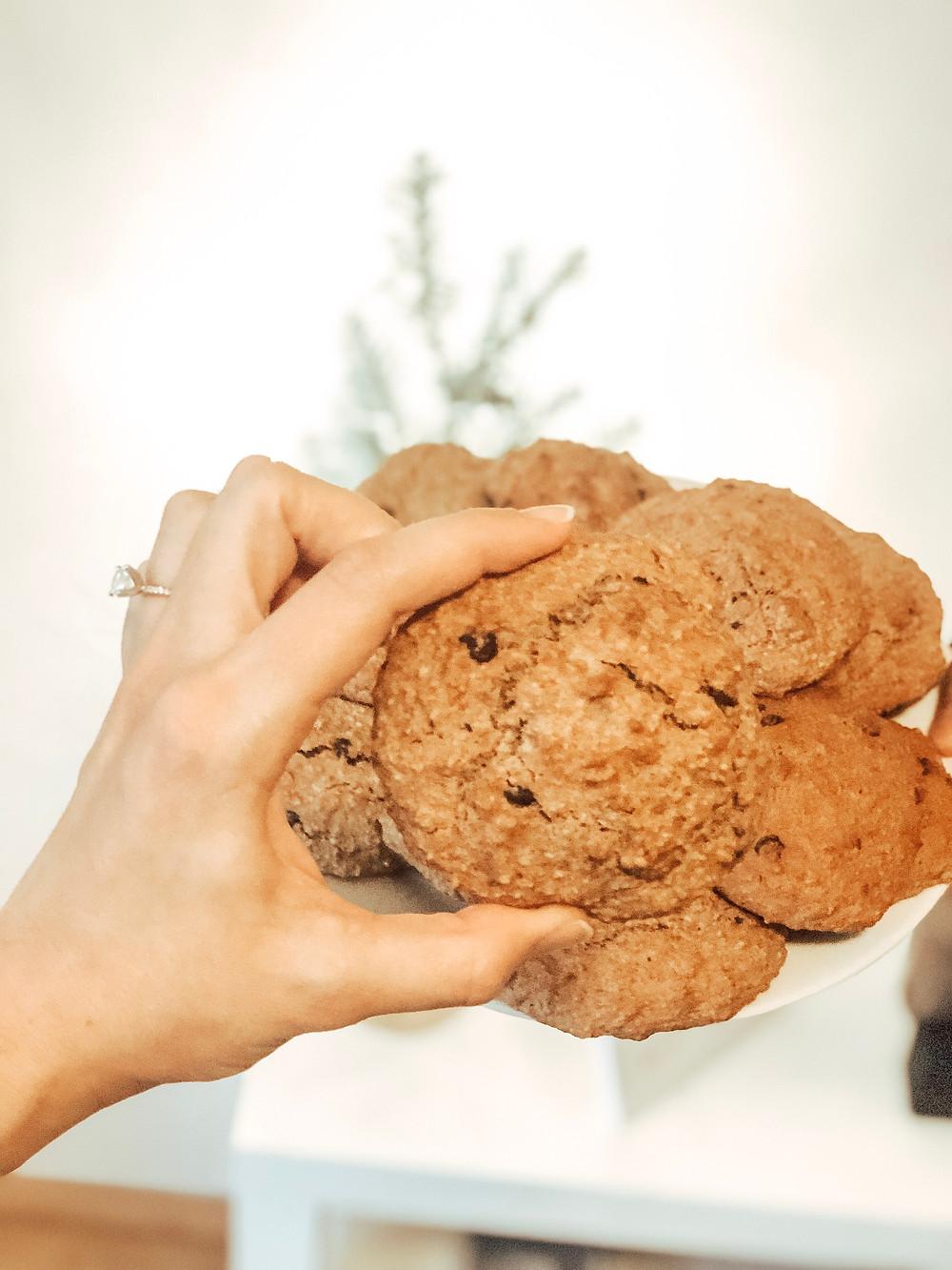 Gluten Free, Chocolate Chip Banana Cookies