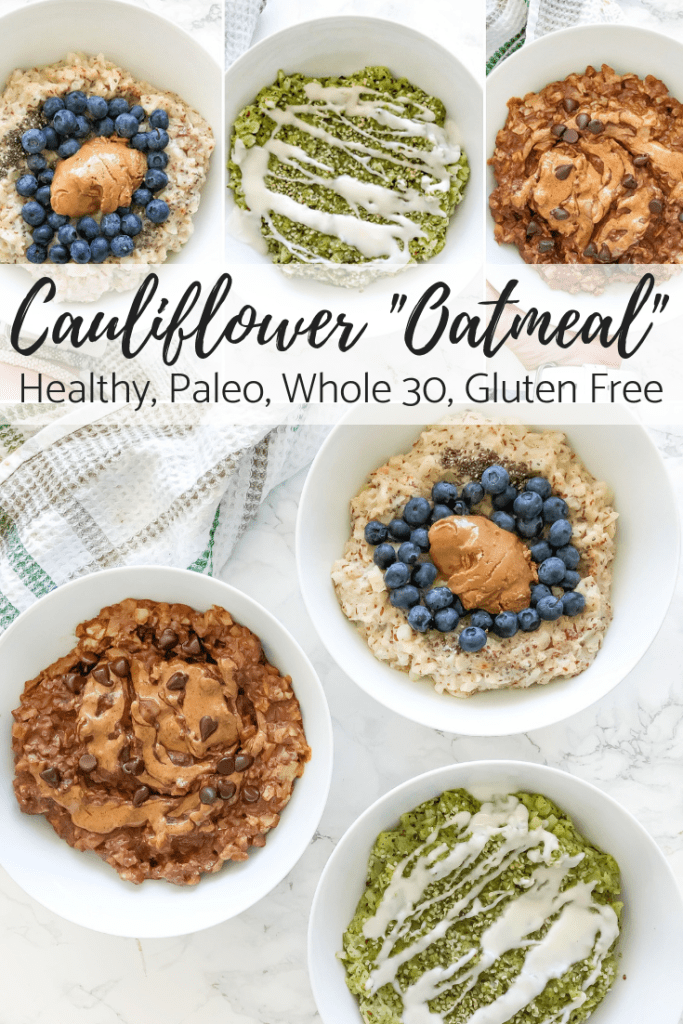 healthy cauliflower oatmeal