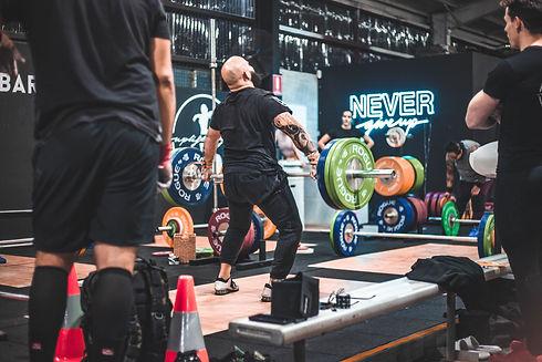 Athlete Lifting Weight